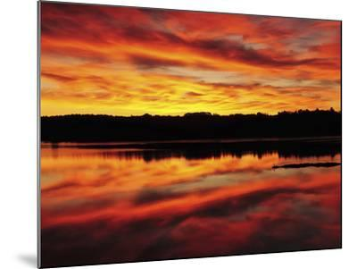 Sunrise on the New Meadows River, Brunswick, Maine, USA-Michel Hersen-Mounted Photographic Print