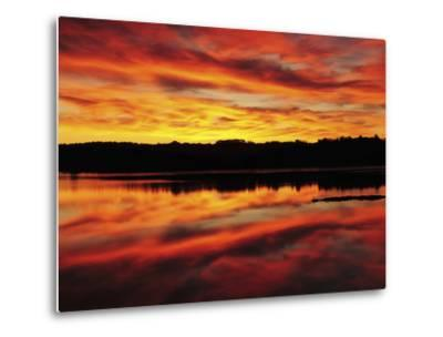 Sunrise on the New Meadows River, Brunswick, Maine, USA-Michel Hersen-Metal Print