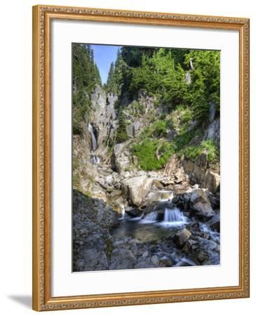 Small Waterfall, Mount Rainier National Park, Washington, USA-Tom Norring-Framed Photographic Print