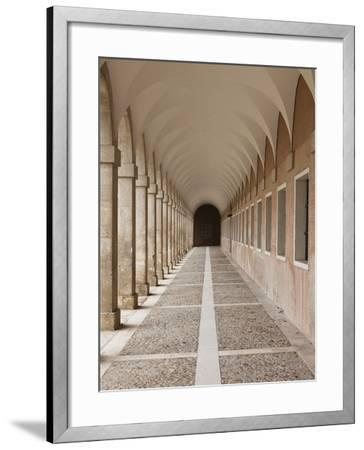 Arched Walkway, the Royal Palace, Aranjuez, Spain-Walter Bibikow-Framed Photographic Print