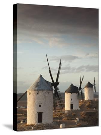 La Mancha Windmills, Consuegra, Castile-La Mancha Region, Spain-Walter Bibikow-Stretched Canvas Print