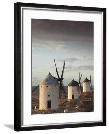 La Mancha Windmills, Consuegra, Castile-La Mancha Region, Spain-Walter Bibikow-Framed Photographic Print