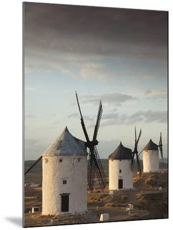 La Mancha Windmills, Consuegra, Castile-La Mancha Region, Spain-Walter Bibikow-Mounted Photographic Print
