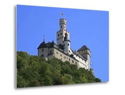 Castle Marksburg, Braubach, Germany-Miva Stock-Metal Print