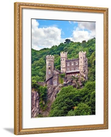 Castle Rheinstein, Rheinland-Pflaz, Germany-Miva Stock-Framed Photographic Print