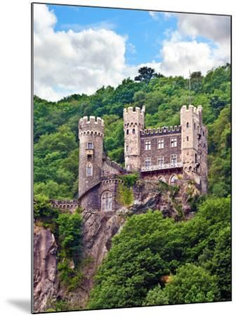 Castle Rheinstein, Rheinland-Pflaz, Germany-Miva Stock-Mounted Photographic Print