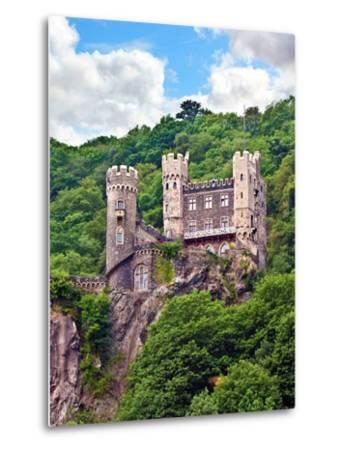 Castle Rheinstein, Rheinland-Pflaz, Germany-Miva Stock-Metal Print