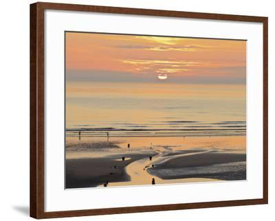 Sunset and Beach, Blackpool, England-Paul Thompson-Framed Photographic Print