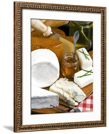French Cheeses and Honey, France-Nico Tondini-Framed Photographic Print