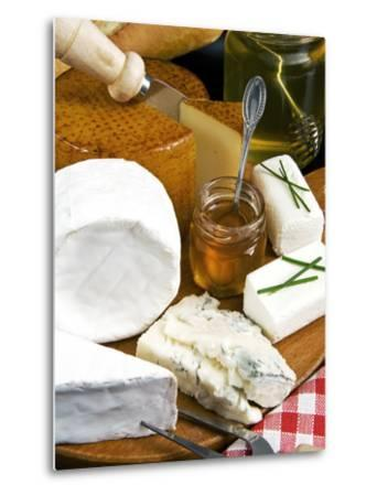 French Cheeses and Honey, France-Nico Tondini-Metal Print