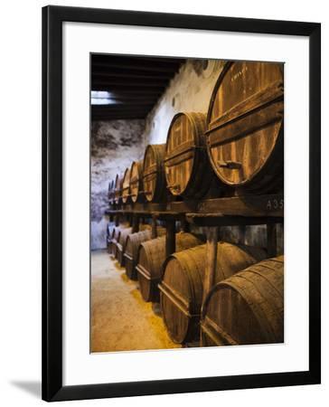 Sherry Casks, Bodegas Gonzalez Byass, Jerez De La Frontera, Spain-Walter Bibikow-Framed Photographic Print