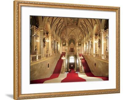 Parliament Building, Budapest, Hungary-Miva Stock-Framed Photographic Print