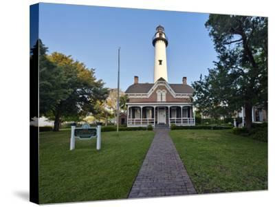 St. Simmons Lighthouse, St. Simmons Island, Georgia, USA-Rob Tilley-Stretched Canvas Print