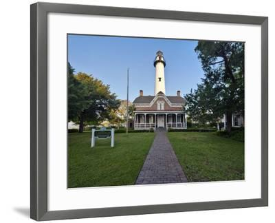 St. Simmons Lighthouse, St. Simmons Island, Georgia, USA-Rob Tilley-Framed Photographic Print