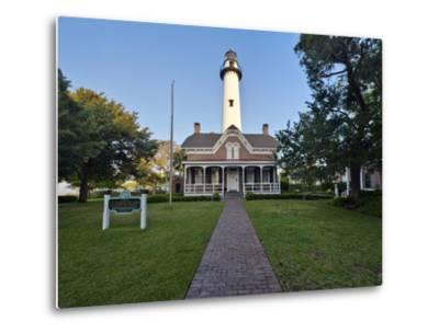 St. Simmons Lighthouse, St. Simmons Island, Georgia, USA-Rob Tilley-Metal Print