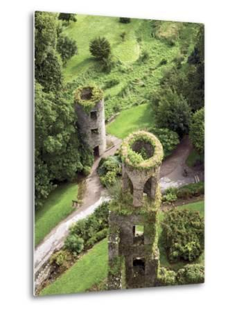 High Angle View of Towers, Blarney Castle, County Cork, Ireland-Miva Stock-Metal Print
