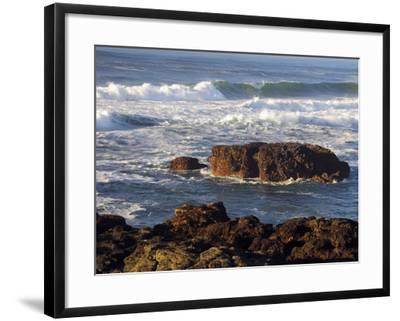 Incoming Tide at Yachats, Yachats, Oregon, USA-Michel Hersen-Framed Photographic Print
