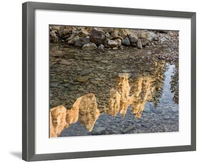 Peaks Reflecting in Small Pool at Mossy Cave at Bryce Canyon National Park, Utah, USA-Tom Norring-Framed Photographic Print