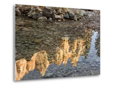 Peaks Reflecting in Small Pool at Mossy Cave at Bryce Canyon National Park, Utah, USA-Tom Norring-Metal Print