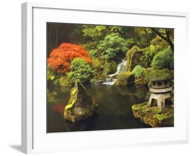 Portland Japanese Garden in Autumn, Portland, Oregon, USA-Michel Hersen-Framed Photographic Print