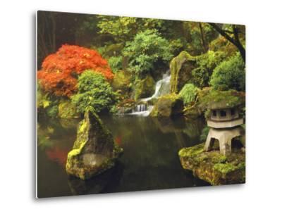 Portland Japanese Garden in Autumn, Portland, Oregon, USA-Michel Hersen-Metal Print