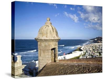 Cemetary, Fort San Felipe Del Morro, San Juan, Puerto Rico, USA, Caribbean-Miva Stock-Stretched Canvas Print