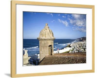 Cemetary, Fort San Felipe Del Morro, San Juan, Puerto Rico, USA, Caribbean-Miva Stock-Framed Photographic Print