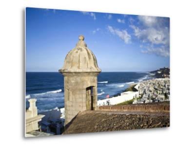 Cemetary, Fort San Felipe Del Morro, San Juan, Puerto Rico, USA, Caribbean-Miva Stock-Metal Print