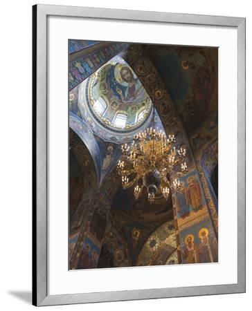Church of the Saviour of Spilled Blood, Saint Petersburg, Russia-Walter Bibikow-Framed Premium Photographic Print