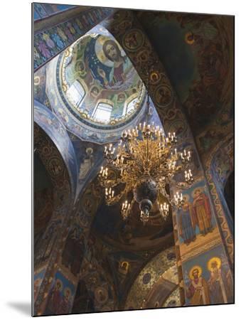 Church of the Saviour of Spilled Blood, Saint Petersburg, Russia-Walter Bibikow-Mounted Premium Photographic Print