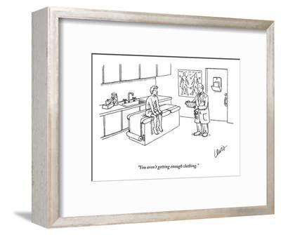 """You aren't getting enough clothing."" - New Yorker Cartoon-Eric Lewis-Framed Premium Giclee Print"