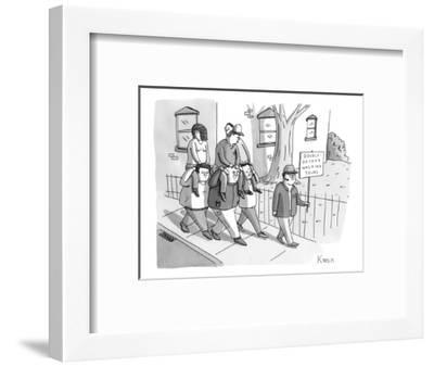Double-Decker Walking Tours. - New Yorker Cartoon-Zachary Kanin-Framed Premium Giclee Print
