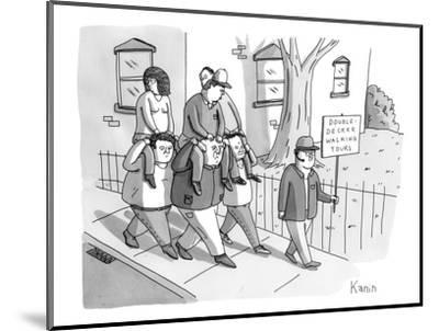 Double-Decker Walking Tours. - New Yorker Cartoon-Zachary Kanin-Mounted Premium Giclee Print