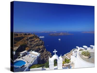 View of Caldera from Imerovigli, Santorini, Cyclades, Greek Islands, Greece, Europe-Sakis Papadopoulos-Stretched Canvas Print