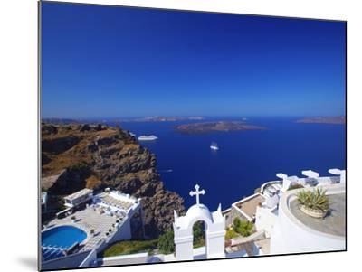View of Caldera from Imerovigli, Santorini, Cyclades, Greek Islands, Greece, Europe-Sakis Papadopoulos-Mounted Photographic Print