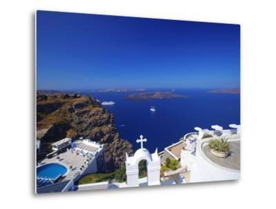 View of Caldera from Imerovigli, Santorini, Cyclades, Greek Islands, Greece, Europe-Sakis Papadopoulos-Metal Print
