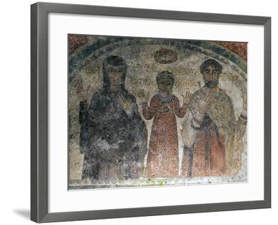 The Earliest Representation of San Gennaro (St Januarius), Catacombs of San Gennaro, Naples, Italy-Oliviero Olivieri-Framed Photographic Print