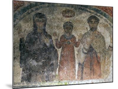 The Earliest Representation of San Gennaro (St Januarius), Catacombs of San Gennaro, Naples, Italy-Oliviero Olivieri-Mounted Photographic Print
