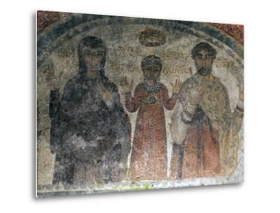 The Earliest Representation of San Gennaro (St Januarius), Catacombs of San Gennaro, Naples, Italy-Oliviero Olivieri-Metal Print