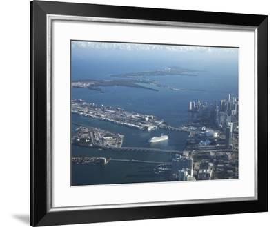 Aerial View of Miami, Florida, United States of America, North America-Angelo Cavalli-Framed Photographic Print