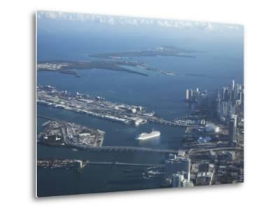 Aerial View of Miami, Florida, United States of America, North America-Angelo Cavalli-Metal Print