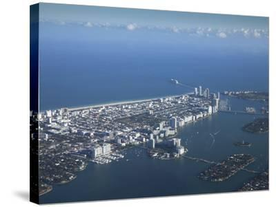 Aerial View of Miami Beach, Florida, United States of America, North America-Angelo Cavalli-Stretched Canvas Print