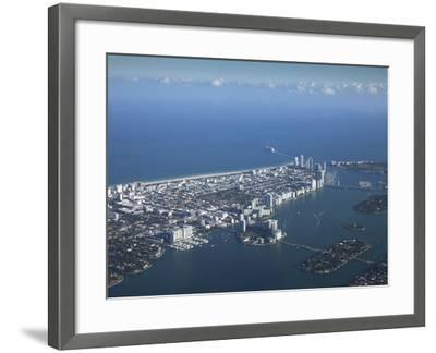 Aerial View of Miami Beach, Florida, United States of America, North America-Angelo Cavalli-Framed Photographic Print