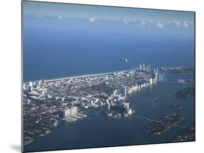 Aerial View of Miami Beach, Florida, United States of America, North America-Angelo Cavalli-Mounted Photographic Print