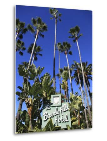 Sign for Beverly Hills Hotel, Beverly Hills, Los Angeles, California, Usa-Wendy Connett-Metal Print