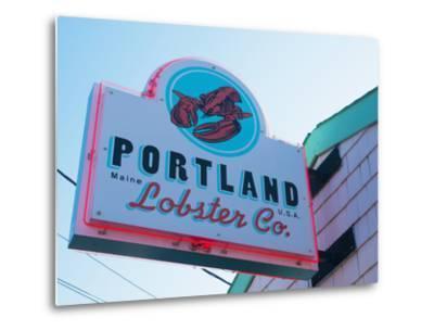 Lobster Restaurant, Portland, Maine, New England, United States of America, North America-Alan Copson-Metal Print