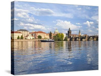 Charles Bridge and the Vltava River, Old Town, UNESCO World Heritage Site, Prague, Czech Republic-Gavin Hellier-Stretched Canvas Print