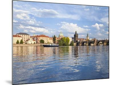 Charles Bridge and the Vltava River, Old Town, UNESCO World Heritage Site, Prague, Czech Republic-Gavin Hellier-Mounted Photographic Print