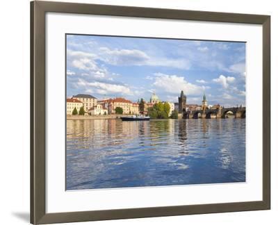 Charles Bridge and the Vltava River, Old Town, UNESCO World Heritage Site, Prague, Czech Republic-Gavin Hellier-Framed Photographic Print