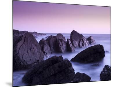 Waves Moving over Jagged Rocks at Hartland Quay, Cornwall, England, United Kingdom, Europe-Ian Egner-Mounted Photographic Print